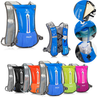 Outdoor Running Vest Sport Backpack Hiking Hydration Pack Cycling + 2L Water Bag • 15.99£