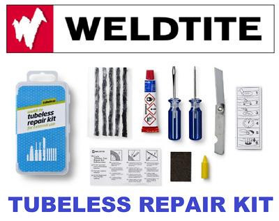 WELDTITE - Bike / Cycle Tubeless Puncture Repair Kit For External Use 01014 • 6.60£