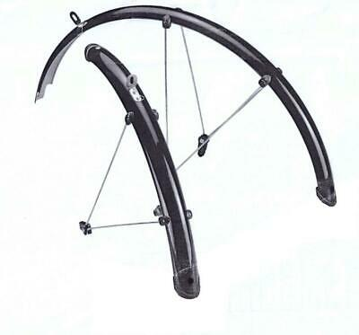 """Rdk Cycle 26"""" Mudguards Front & Rear Mountain Bike/bicycle Mud Guards Set • 17.95£"""