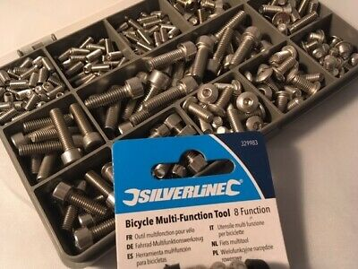 Bolts For Bikes Bicycle Stainless Steel A2 Kit 310 Pcs Plus Multi Function Tool • 19.95£