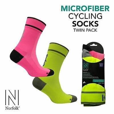 Low Friction Cycling Socks By Norfolk (2 Pair Pack) - Adam • 12.45£