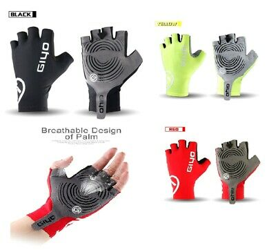 Men Half Finger Gloves Cycling Bike Finger Less Gel Padded Bicycle MTB BMX Run  • 9.99£