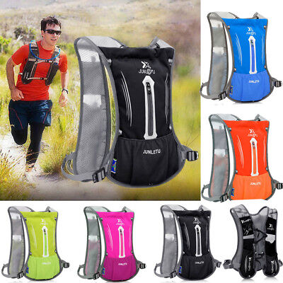 Women Men Sports Backpack Hiking Hydration Cycling Running Vest + 2L Water Pack • 18.99£