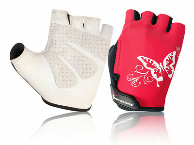 CLEARANCE NEW Cycling Ladies/Womens Fingerless Gloves -Mitts- Red UK Stock • 3.99£
