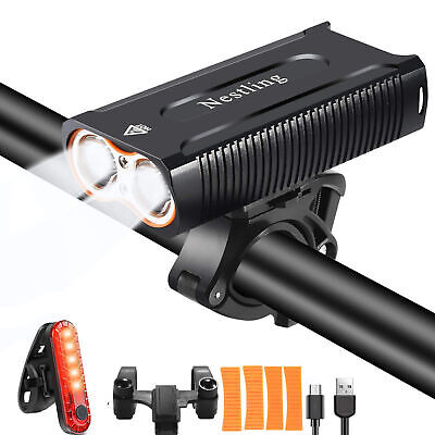 2400LM 2 Cree T6 LED Mountain Bike Lights Rechargeable Bicycle Front Light Lamp • 16.99£