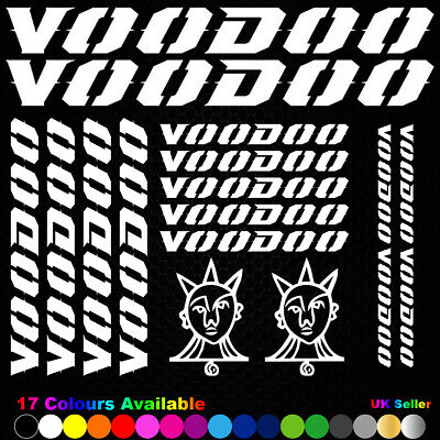 VOODOO Vinyl Decals Stickers Bike Frame Cycle Cycling Bicycle Mtb Road • 6.49£