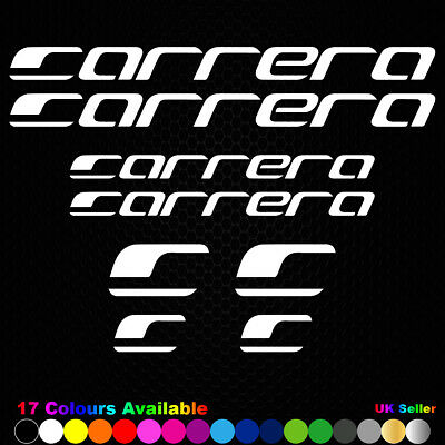 CARRERA Vinyl Decals Stickers Bike Frame Cycle Cycling Bicycle Mtb Road • 2.99£