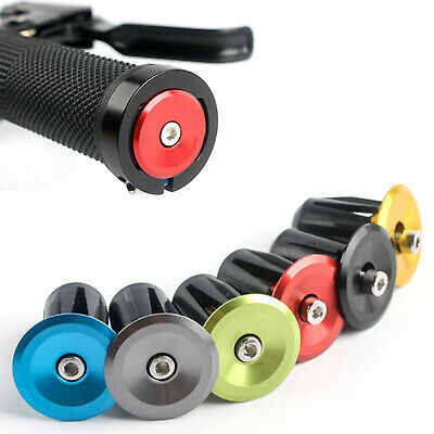 1 Pair MTB Road Bike Bicycle Aluminum Alloy Handlebar Grips Bar End Cap Plug • 2.79£