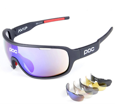 5 Pieces POC Sunglasses Polarized Cycling Glasses Sports Glasses Glasses 2020 NE • 13.86£