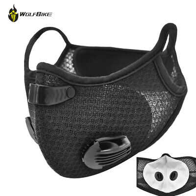 Reusable Activated Carbon Face Shield With Filter Mouth Covers Dustproof Scarf • 5.99£