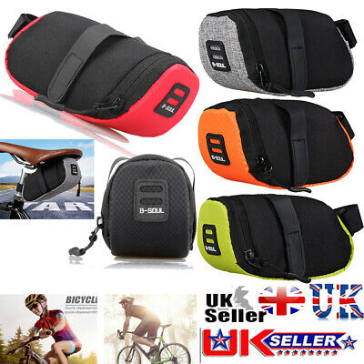 Bike Bicycle Saddle Bag Under Seat Waterproof Storage Tail Pouch Cycling Bags UK • 5.57£