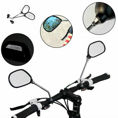 2Pcs Bicycle Bike Cycling Handlebar Rear View Rearview Mirror Rectangle Back • 6.99£