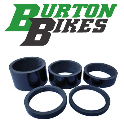Set Of 5 Carbon Fibre Headset Spacers, 1 1/8 , 20/15/10/5/3mm • 6.49£