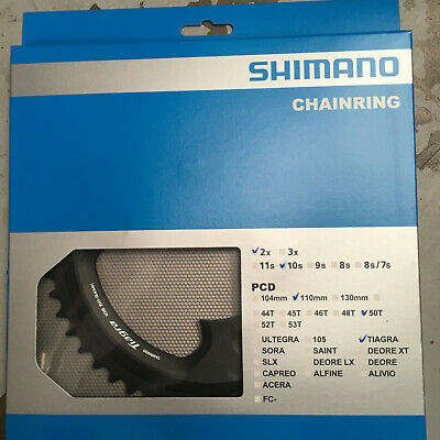 Bike Chain Ring Shimano FC4700 Tiagra Doulbe Outer Black • 39.99£