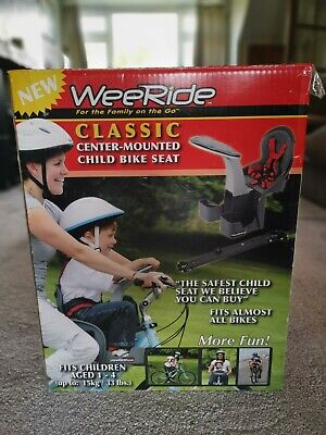 WeeRide Classic Safe Front Mounted Children's Bike Seat - Grey (98077) • 41£