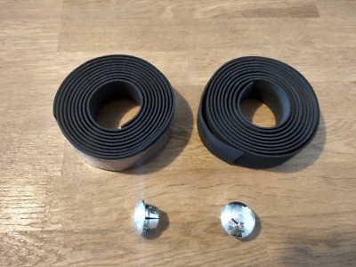 Handlebar Tape. Black, Bar Tape For Bicycle Handlebars. With Bar End Plugs. • 6.99£