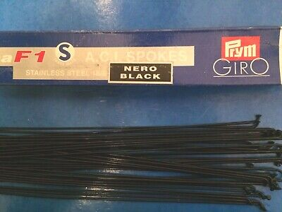 Nos 36 X Alpina F1 Aci Black Stainless Double Butted Spokes,275mm Long,14/16g • 11.99£