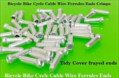 Bicycle Bike Cycle Cable Wire Ferrules Ends Crimps Tidy Cover Frayed Ends • 1.59£