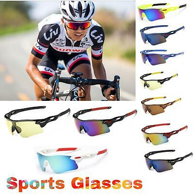 Outdoor Sports Cycling Bike Running Sunglasses UV400 Lens Goggle Glasses Eyewear • 8.99£