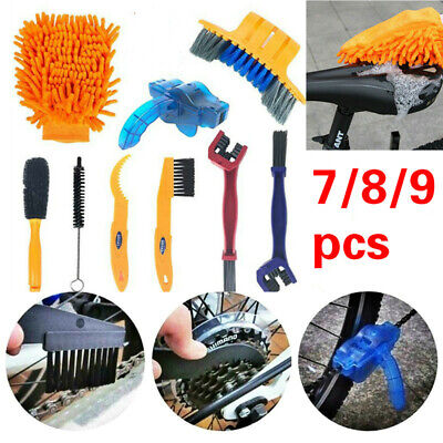 Bicycle Chain Cleaner Cycling Cleaning Brushes Wash Tool Kit For Mountain Bike • 13.77£