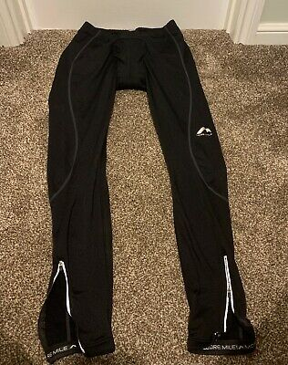 Mens More Miles Cycling Tights Padded - Black -Used XL • 10£