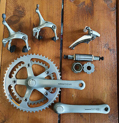 Shimano 105 R1050 Partial Groupset: Chainset, Bottom Bracket, Front Mech, Calipe • 41£