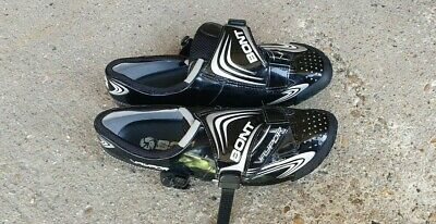 Bont Vaypor Cycling Shoes-Size 43 UK9-Carbon Fibre-Fully Heat Moldable-Worn Once • 52.50£