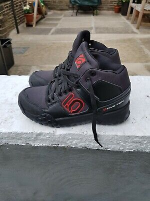 Five Ten Impact High Tops MTB Shoes Black Red Size 8 Uk • 80£