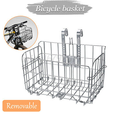 Silver Wire Mesh Front/rear Folding Bike/bicycle Shopping Extra Storage  ^ • 8.99£