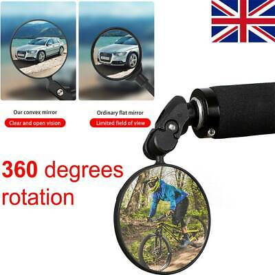 Mountain Bike Rearview Mirror Bicycle Handlebar Cycle Rotating Rear View Mirror  • 5.49£