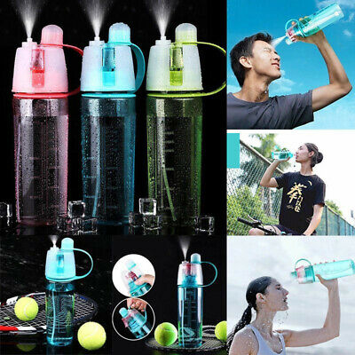 400/600ML Spray Water Bottle Drink Misting Travel Outdoor Sports Mugs Cycling UK • 6.99£