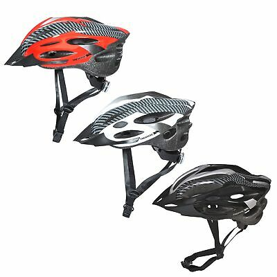 Trespass Crankster Adults Cycling Bike Helmet Lightweight In Black White Red • 19.99£