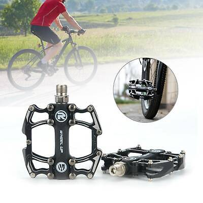 2X  Mountain Bike Pedals Flat Platform Aluminum Alloy Sealed Bearing Pedals • 10.49£