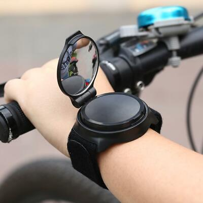 Outdoor Bike 360 Degree Rotate Wrist Rearview Mirror MTB Bicycle Safety Riding • 9.39£