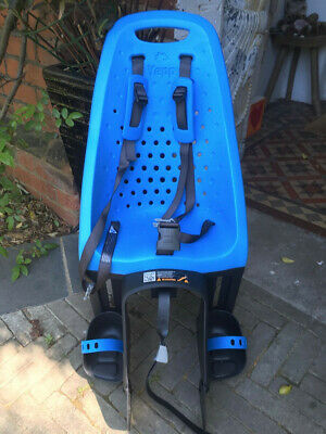 Thule Yepp Maxi Rear Seat With Bike Easy Fit Bracket And Lock, Blue, Barely Used • 25£