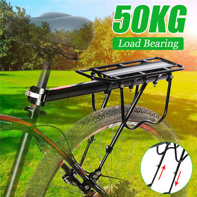 Alloy Rear Bicycle Pannier Rack Carrier Bag Luggage Cycle Mountain Bike Max  • 11.78£
