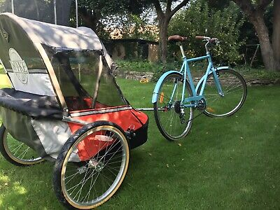 Unused Wike Moonlight Double Bike Trailer Kids Up To 6 Yrs Old. Incl 2 X Hitches • 219£