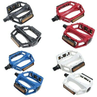 Metal Aluminium Alloy Bike Bicycle MTB DH XC BMX Pair Pedals - Multiple Colours • 8.99£