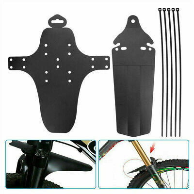1 Set Cycling MTB Mountain Bike Bicycle Front + Rear Mud Guards Mudguard Fenders • 5.99£