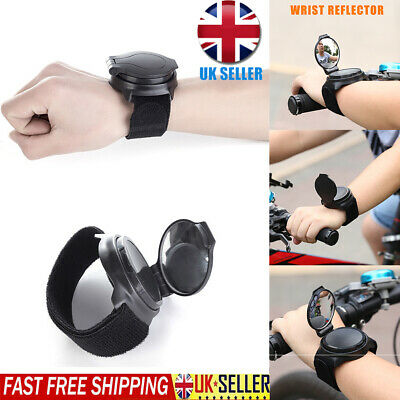 360° Hand Cycling Wrist Mirror Rear View Rearview Safety Bike Arm Back Mirror UK • 8.99£