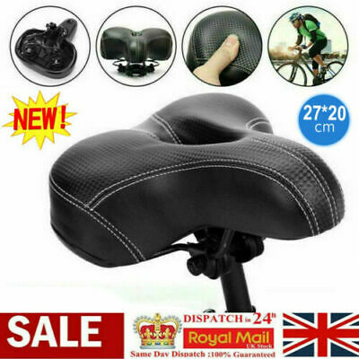 Universal Extra Wide Comfy Cushioned Bicycle Gel Saddle Bike Seat Soft Padded UK • 3.98£