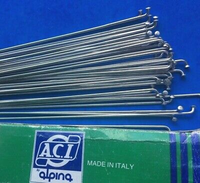 Nos 36 Aci Alpina Stainless Double Butted Spokes,with Nipples,292mm,2/1.7 Gauge • 12.99£
