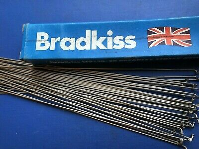 Nos 36 Bradkiss Stainless Double Butted Spokes,with Nipples,303mm (11 15/16 ) Lg • 12.99£