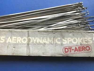NEW OLD STOCK DT AERO DYNAMIC STAINLESS SPOKES,294MM LONG,2.0MM X 24.  • 29.99£