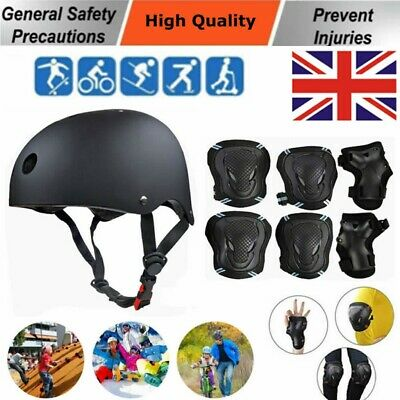 Adult Kid Helmet Bike + Protective Gear Guard Set Cycling Safety Roller Skate • 27.99£