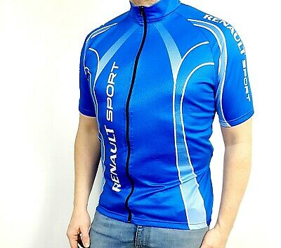 Mens Vintage Cycling Jersey Renault Sport Size XL • 16£