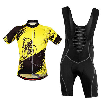 Men's Team Cycling Jersey Sport Clothing MTB Bike  Pad Bib Shorts Set • 28.16£
