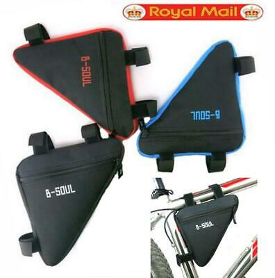 Waterproof Bicycle Bag Cycling Triangle Storage Bag Bike Front Tube Frame Pouch • 3.89£