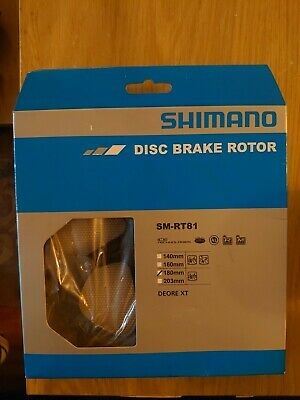 Shimano Deore XT And Saint SM-RT81 Ice-Tec Centre Lock 180mm Disc Rotor • 20£