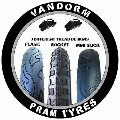 2x Pram Tyres & Tubes 12 1/2 X 2 1/4 Slick Out N About Nipper 360 Mamakiddies • 13.99£